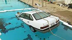 Машина под водой. Сложить бумагу семь раз.